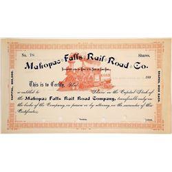 Mahopac Falls Rail Road Co stock  #83746