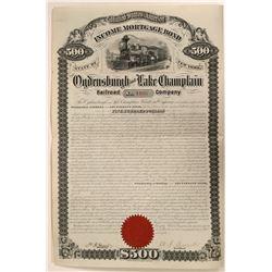 Ogdensburgh and Lake Champlain Railroad Co.  #106174