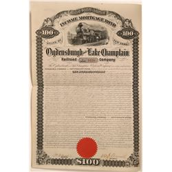 Ogdensburgh and Lake Champlain Railroad Co.  #106175