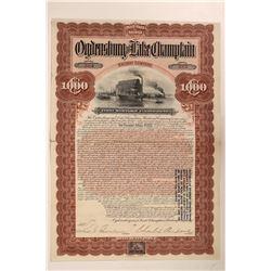 Ogdensburgh and Lake Champlain Railway Co.  #106176