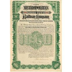 The Metropolitan Cross-Town Railway Co. bond  #101378
