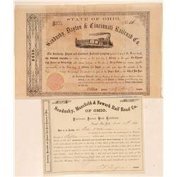 Ohio Railroad bonds  #105546