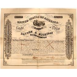 Dayton & Michigan Railroad Company Bond, 1853  #110311