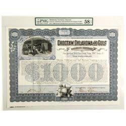 Choctaw, Oklahoma & Gulf Railroad Co. Bond, 1900  #60102
