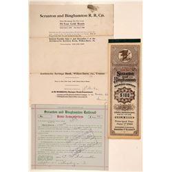 Scranton and Binghamton Railroad Co.  #104684
