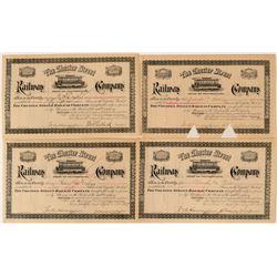 Chester Street Railway Company Stock Certificates (4)  #107618