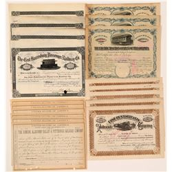 Four Pennsylvania Railroad Co. Stock  #106148