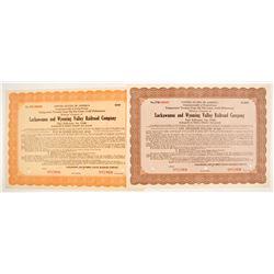 Lackawanna and Wyoming Valley Railroad Gold Debentures (2 specimens)  #84970