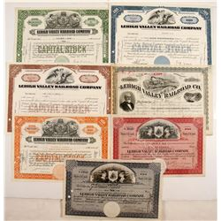 Lehigh Valley Railroad Stocks, 7 Different  #84965