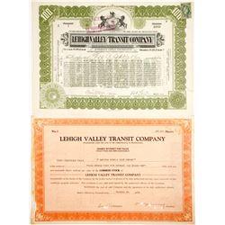 Lehigh Valley Transit Stocks, Two #1's  #84958