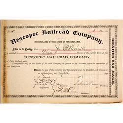 Nescopec Railroad Co  #87007