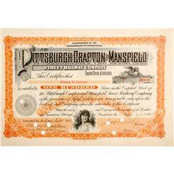 Pittsburgh Grafton and Mansfield Street Railway Stock, #7  #84274