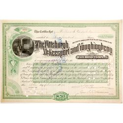 Pittsburgh, McKeesport and Youghiogheny Railroad Stock with Vanderbilt Sig  #84913
