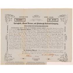 Springfield, Mount Vernon & Pittsburg Rail Road Co  #106091