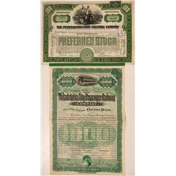 Two Pennsylvania RR's Stock/Bond  #108653