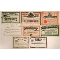 Various Pennsylvania Railroadstocks, unissued  #108641