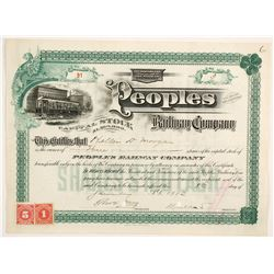 Peoples Railway Company  #83819