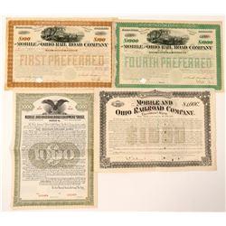 Mobile and Ohio Railroad bonds  #101268