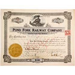 Pond Fork Railway Stock, #15  #84911