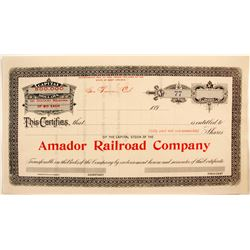 Amador Railroad Co.  #82209