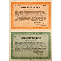 American Railways Corp. Scrip Certificate  #75871