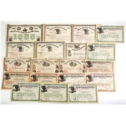 Different Pennsylvania  Union Railroad Co Certificates  #86900