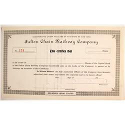 Fulton Chain Railway Company  #75832