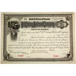 Old Colony Railroad Company SPECIMEN - Massachusetts   #79612