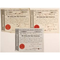 Old Colony RailRoad Corporation Stock Certificates  #80663