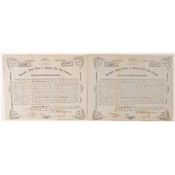 Springfield, Mount Vernon & Pittsburgh Railroad Company Stock Certificates  #78763