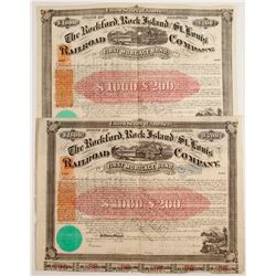 The Rockford, Rock Island and St. Louis Railroad Company Bond Certificates  #78764