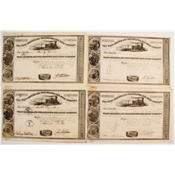 The West Chester and Philadelphia Rail Road Company Stock Certificates  #80529