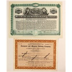 Tucumcari and Memphis Railway Co Stock/Bond  #81740