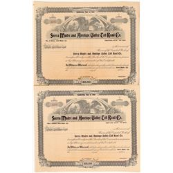 Sierra Madre & Antelope Valley Toll Road Co. Stock Certificates  #104224