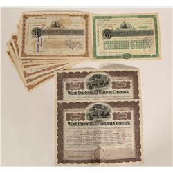 Rail Road / Transportation Bonds & Stock Certificates / West End Street Railway/ 27 items.  #109901