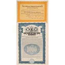New York Ports Stock and Bond  #105606