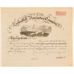 Schuykill Navigation Stock  #105615