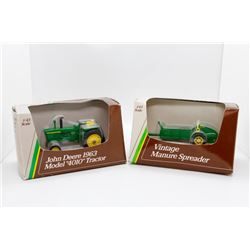 1963 John Deere 4010 1:43 and Vintage Manure Spreader 1:43