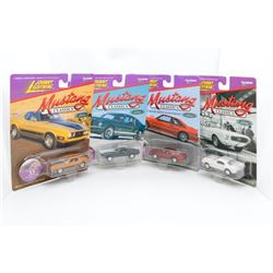 Johnny Lightening Mustang Collection - 1973, 1988, 1967 and 1963