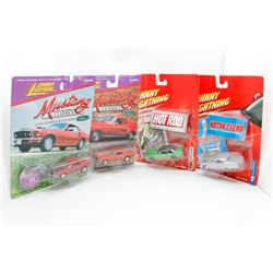 Johnny Lightening Mustang, Hot Rod and Motor Trend Collection - 1969, 1968, 1968, 1958