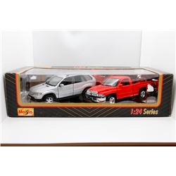 Dodge and BMW 1:24 Maisto