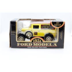 1931 Ford Model A panel delivery truck bank 1:25