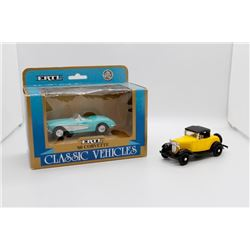 1932 Ford Roadster De Luxe 1:43 Ertl and 1960 Corvette 1:43 Ertl