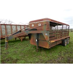 DR 16 FT LIVESTOCK TRAILER; VIN/SN:DR12289119 --T/A, GOOSENECK, BARN DOORS (BILL OF SALE ONLY)
