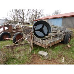 16 FT UTILITY TRAILER --S/A, COMES WITH MISC. FENCE POST, FENCING, BARBED WIRE (BILL OF SALE ONLY)
