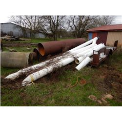 13 FT UTILITY TRAILER --S/A, COMES WITH MISC. PVC AND STEEL PIPE (BILL OF SALE ONLY)
