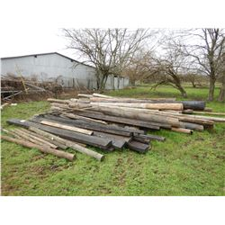 MISC. FENCE POST, CROSS-TIES, ELECTRICAL POLES