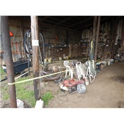 MISC. TIRES, CHAIRS, AIR COMPRESSOR, PARTS