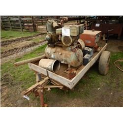 LINCOLN ARC WELDER; --WELDER AND AIR COMPRESSOR MOUNTED ON S/A TRAILER, 8' LENGTH