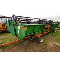 JOHN DEERE 925 HEADER; VIN/SN:667307 --COMES WITH HAULING TRAILER